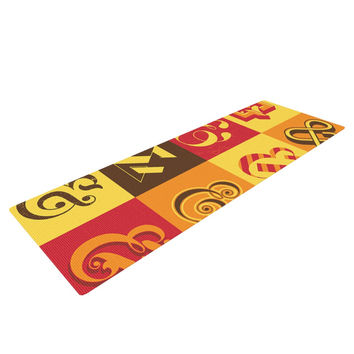 "Roberlan ""Ampersands"" Typography Yoga Mat"