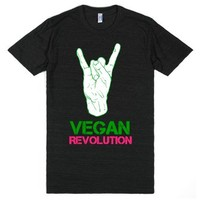 Vegan revolution-Unisex Athletic Black T-Shirt