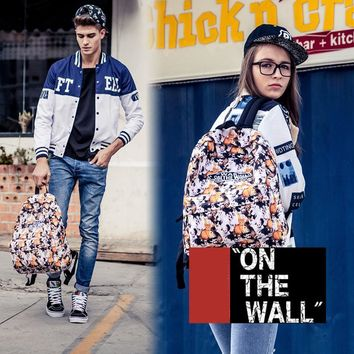VansFashion Personality printing large capacity backpack bag leisure travel boom Cute cat printing 7 style