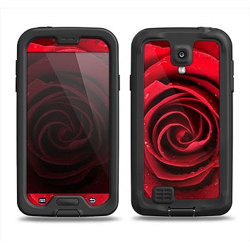 The Layered Red Rose Samsung Galaxy S4 LifeProof Fre Case Skin Set