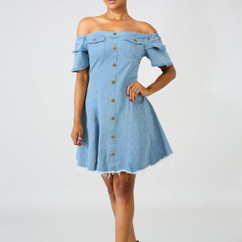 Denim Girly Raw Dress