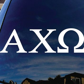 Alpha Chi Omega Sorority  Logo Vinyl Sticker Decal Car Truck Windon Wall Laptop notebook