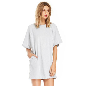 Grey Loose T-shirt with Side Pocket