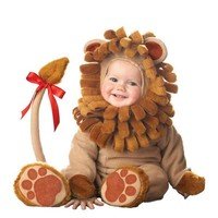 Halloween Baby Babies Toddler Halloween Lil' Lion King of Jungle Animal Babygrow Fancy Dress Outfit Costume