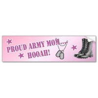 Army Mom Bumper Sticker from Zazzle.com
