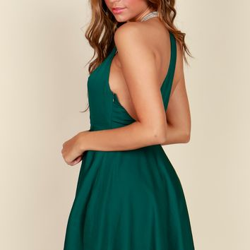 The Lux Life Classic Dress Hunter Green