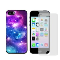 Iphone 5s Case, Galaxy Nebula Case for Iphone 5/5s - Free Screen Protector - Black