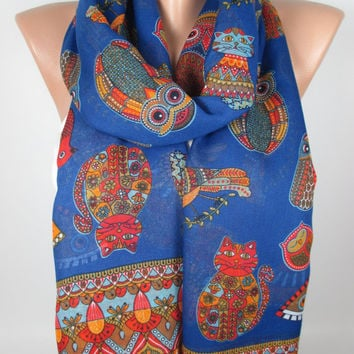 NEW Owl Scarf Cat Scarf Bird Scarf Animal Scarf Winter Spring Scarf Women Fashion Accessories Gift Ideas For Her Christmas Gifts MELSCARF