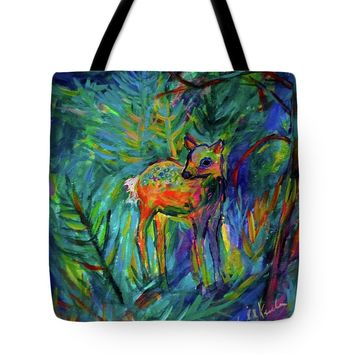 Moonlight Fawn Tote Bag
