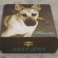 Pet Memorial Keepsake Box, Personalized Photo Keepsake Box, Unique Dog Memorial, Custom Cat Memorial, Pet Gift Memory Box