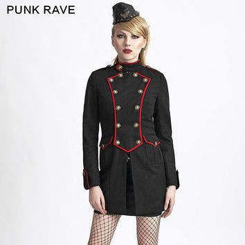 MILITARY STYLE WOOL COAT PUNK RAVE NEW WINTER WOMENS GOTHIC KERA JACKET