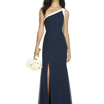 Social Bridesmaid by Dessy 8178 Floor Length One Shoulder Chiffon Bridesmaids Dress