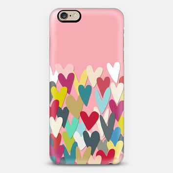 confetti hearts pink iPhone 6s case by Sharon Turner   Casetify