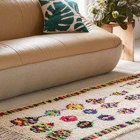 One-Of-A-Kind 3x6 Moroccan Tufted Boucherouite Shag Rug - Urban Outfitters