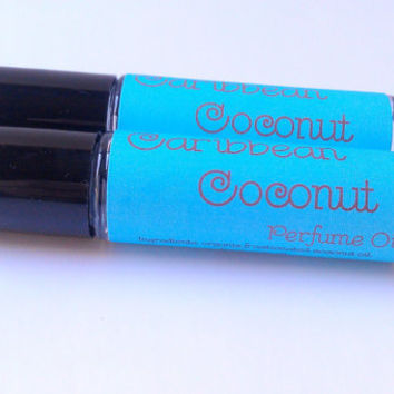 Caribbean Coconut Perfume Oil by ZEN-ful, Roll On Perfume Oil, Fragrance, Cologne, Gift Ideas