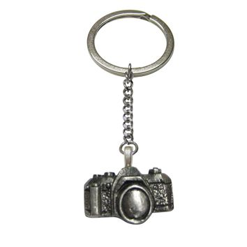 Textured Camera Pendant Keychain