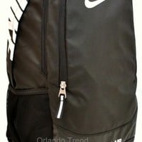 "Nike Backpack Black 15"" Laptop Team Training Max Air Men Women 15 inch Bag Book"