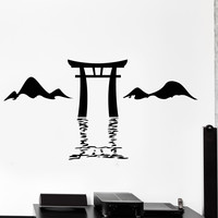 Wall Vinyl Decal Torii Itsukushima Shrine Japan Japanese Gates Home Decor Unique Gift z4437