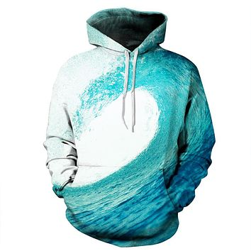 free shipping 3D Hoodies Men 2017 Brand Clothing ocean wave HD printing harajuku casual Hooded Sweatshirt lovers pullover