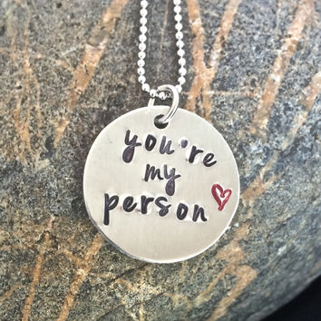 You're my person, best friends necklace
