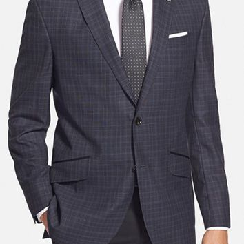 Ted Baker London 'Jerry' Trim Fit Plaid Wool Sport Coat,