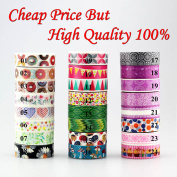 Donuts flowers flags purple colors 1pc Washi Tape Decorative Masking Tape DIY Paper Stickers Scrapbooking Japanese Stationery