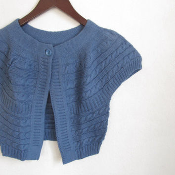 Blue Bolero Short Sleeve Jacket..