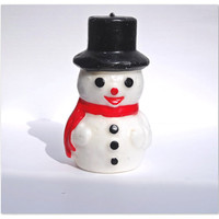 Vintage Snowman Candle Un-burned Holiday Decor