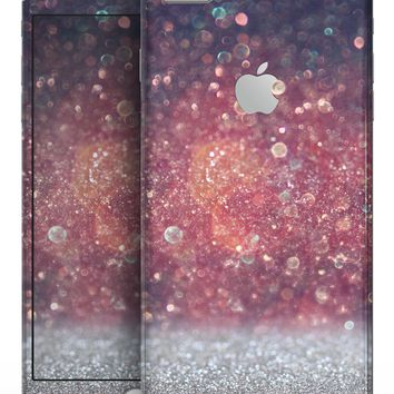 Red and Blue Glowing Orbs with Silver Sparkle - Skin-kit for the iPhone 8 or 8 Plus