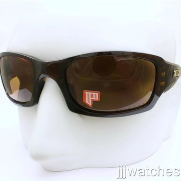 One-nice™ New Oakley Five SQ Brown Transparent Sunglasses Bronze Polarized Lens OO9238-08