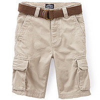 First Wave 8-20 Belted Twill Cargo Short