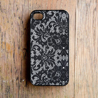 Lace Pattern iPhone 4 Case New iPhone 4 & iPhone 4s Black Mother's Day For Mom