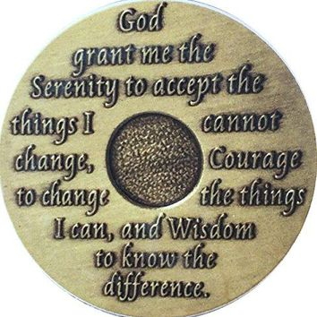 Serenity Prayer Car Auto Coaster AA Medallion Absorbent Stone 25quot Cup Holder