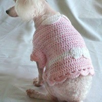 Crochet Pattern - Dog Sweater Dress Shirt