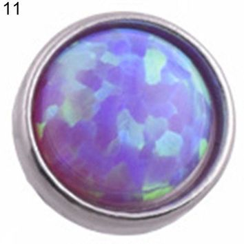 ac ICIKO2Q Opal Stone Skin Driver Dermal Anchor Stainless Steel Body Piercing Jewelry