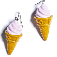Hollywood Mirror Soft Serve Ice Cream Earrings Multi One