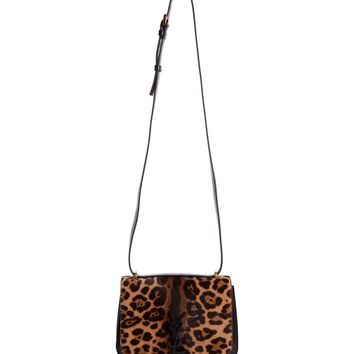 Saint Laurent Spontini Genuine Calf Hair Shoulder Bag | Nordstrom