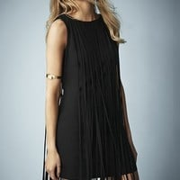 Kate Moss for Topshop Long Fringed Tassel Dress