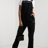 Champion Women's Thick Fleece Embroidered C Overalls in Black