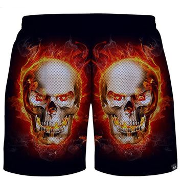 Summer style Men's Shorts skull 3D Print Short Pants Casual Breathable Beach Shorts out wear