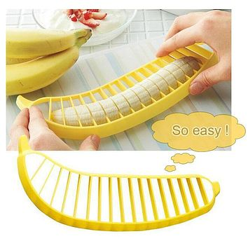 Hot Selling Banana Slicer Chopper Cutter Vegetable Transport Tools Fruit Salad Sundaes Cereal Cooking Tools Kitchen accessories