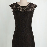 Vintage Inspired Mid-length Cap Sleeves Bodycon Kind Intentions Dress
