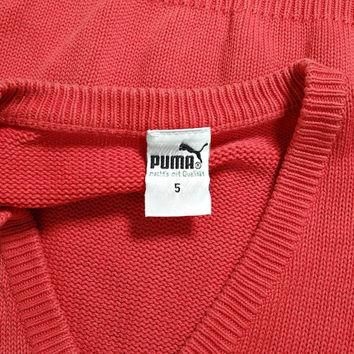 SALE 30% OFF - 80s PUMA Knit Tank Top/ Old School Puma Sportswear/ Size 5 Men M-L