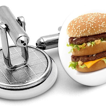 Big Mac McDonalds Cufflinks