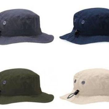 UPF50+ CARGO BRIMMED BUCKET ARMY STLYE HAT 4 COLOURS ONE SIZE MENS OR WOMENS