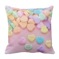 ClaireBlossom Sweet Throw Pillow