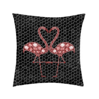 Elegant Flamingo Cushion