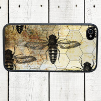 Honeycomb Bee iPhone Case - iPhone 4,4s - iphone 5 - Gifts Under 25