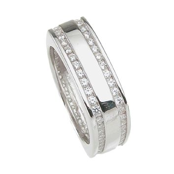 925 Sterling Silver Mens Wedding Band 1 Carat Weight - Size 10