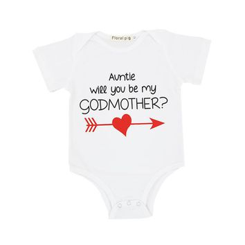 Funny  Godmother Baby Onesuit